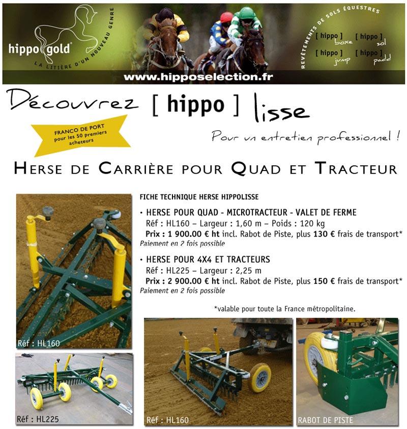 Hippo Lisse : Herse de Carriere pour Quad et Tracteur