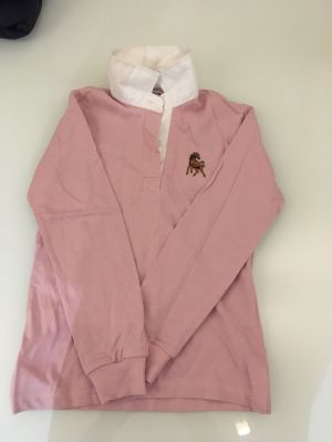 Polo rose manches longues neuf, taille XS