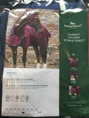Horseware Chemise Rambo Optimo Stable Sheet